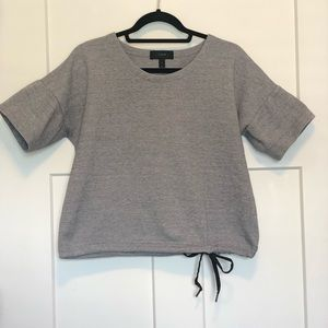 J.Crew Short-sleeve drawstring sweatshirt